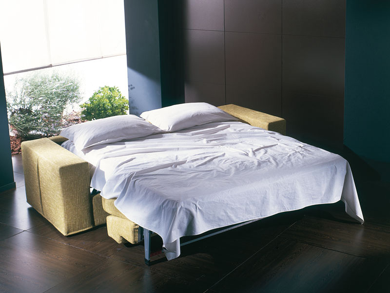 Prometeo, Ultra-modern sofa bed, convertible into bed, removable cover