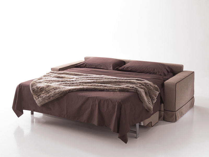 Polifemo, Sofa with hidden bed, front opening, for living room