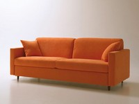 Voyager, Space-saving sofa bed, with swivel opening, removable fabric