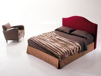 Regolo, Upholstered bed, with storage box, for bedroom