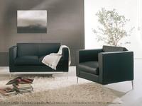 Matrix, Chair with modern design, metal base, waiting areas