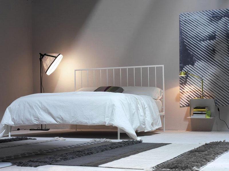 Intreccio Light, Minimal metal double bed, contemporary style