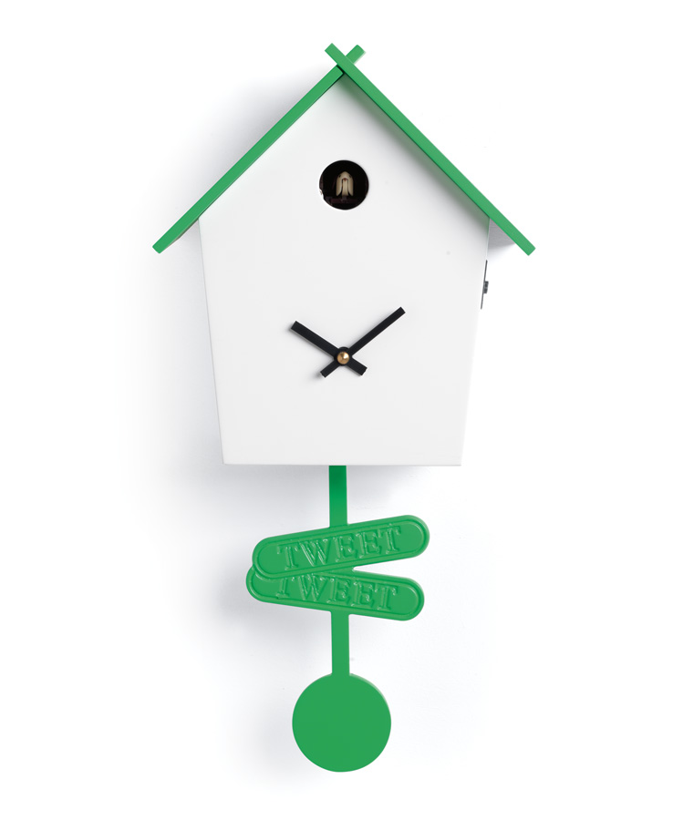 Pendolum cuckoo clock colorful for modern kitchens idfdesign - Orologi a cucu design ...