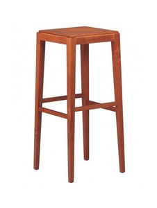 C08SG, Linear wooden barstool for bars and restaurants