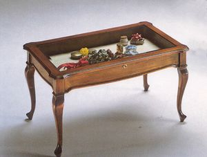 2175 SMALL TABLE, Coffee table with display case, outlet price