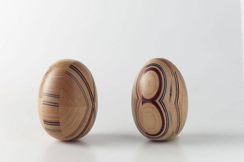 COLOURED INSERTS, Original wood inlay