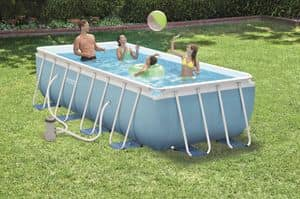 Ground pool Intex - 28316, Inflatable above ground swimming pool, made with steel and PVC