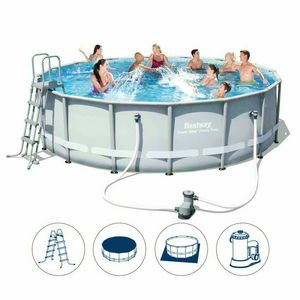 Above-ground pool Bestway 56451 round power steel 488x122cm - 56451, Large above ground pool