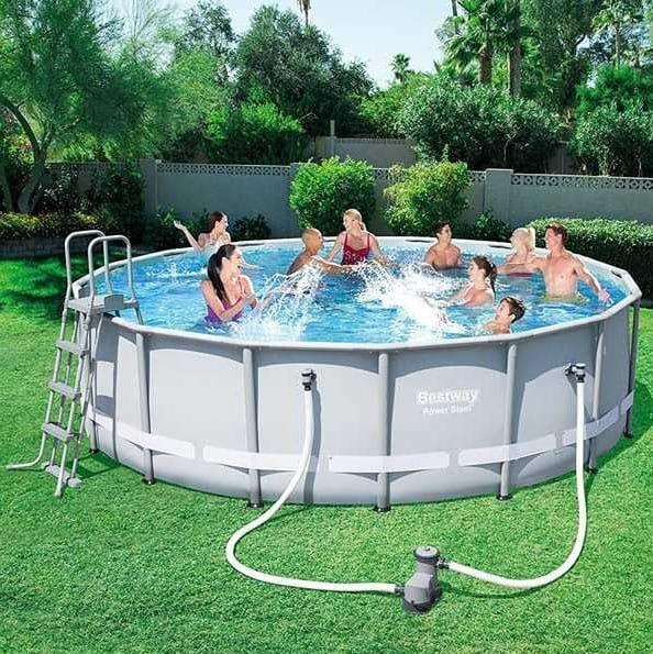 Above-ground pool Bestway 56451 round power steel 488x122cm - 56451, Large above ground pool