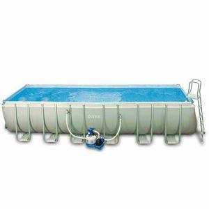 Above ground pool Intex 26362 ex 28362 Ultra large rectangular Frame 732x366x132 - 26362, Large rectangular swimming pool above ground