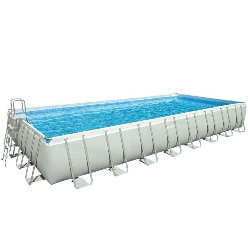 Rectangular swimming pool with ladder and sand pump | IDFdesign