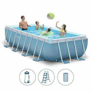 Above ground pool Intex 26776 ex 28316 Prism Frame rectangular 400x200x100 - 26776, Rectangular pool above ground for outdoor use