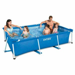 Above ground pool Intex 28272 Rectangular Frame 300x200x75 - 28272, Inflatable rectangular pool for gardens