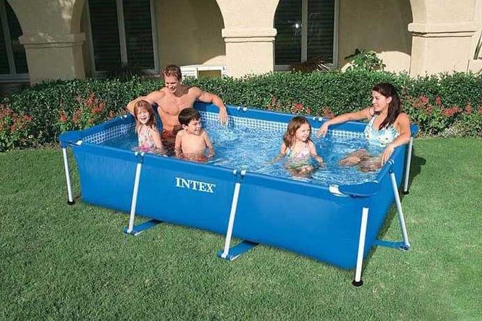 Above ground pool Intex 28272 Rectangular Frame 300x200x75 - 28272, Inflatable rectangular pool for gardens