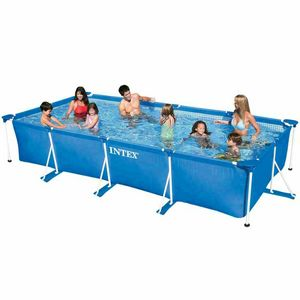 Above ground pool Intex 28273 Rectangular Frame 450x220x84 - 28273, Rectangular inflatable pool for outdoor use