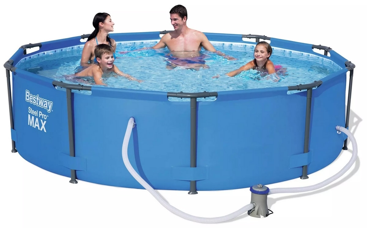 Bestway 56408 Above Ground Pool Round Steel Pro MAX 305x76 cm - 56408, Round above ground pool