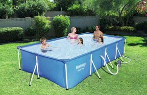 Bestway 56424 Rectangular Above Ground Swimming Pool Steel Pro 400x211x81 cm - 56424, Above-ground swimming pool of superior quality