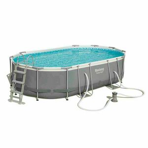 Bestway 56448 Above Ground Oval Frame Pool - 56448, Oval swimming pool with steel structure