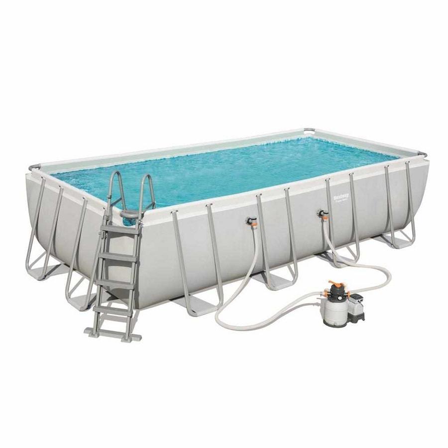 Bestway 56466 Above Ground Frame Pool Rectangular 122x274x549cm - 56466, Rectangular above ground pool