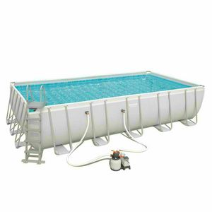 Bestway 56471 Frame POWER STEEL Rectangular Above Ground Pool 671x366x132 - 56471, Medium size above ground pool