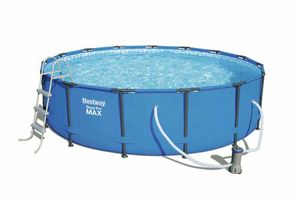 Bestway 56488 Steel Pro MAX Round Above Ground Swimming Pool 457x107 cm - 56488, Round swimming pool, removable