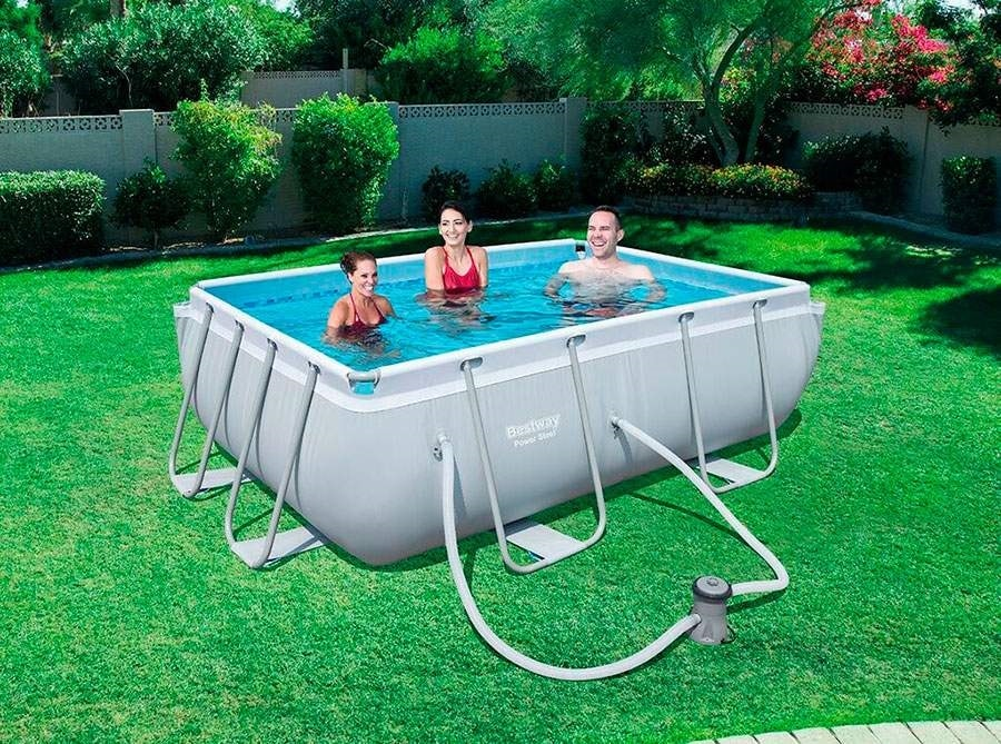 Bestway 56629 Power Steel Above Ground Rectangular Swimming Pool 282x196x84cm - 56629, Swimming pool in carefully selected materials