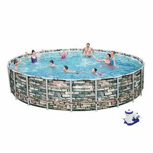 Bestway 56889 Power Steel Round Above Ground Pool of Steel 671x132 cm - 56889, Above ground pool with round shape