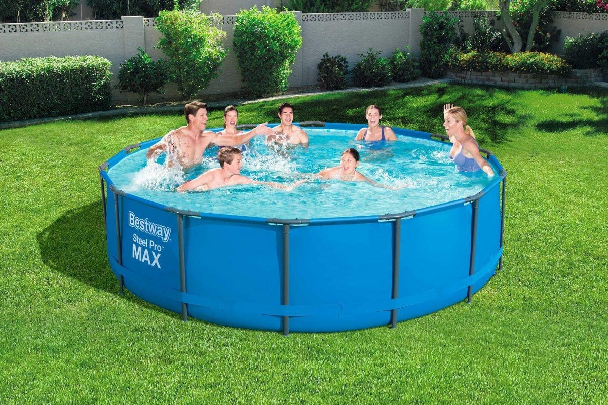 Bestway 56950 Above Ground Pool Round Steel Pro MAX 427x107 cm - 56950, Above ground pool of great stability and durability