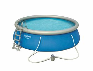 Bestway 57289 Fast Set Above Ground Round Pool 457x122 cm - 57289, Round swimming pool for garden