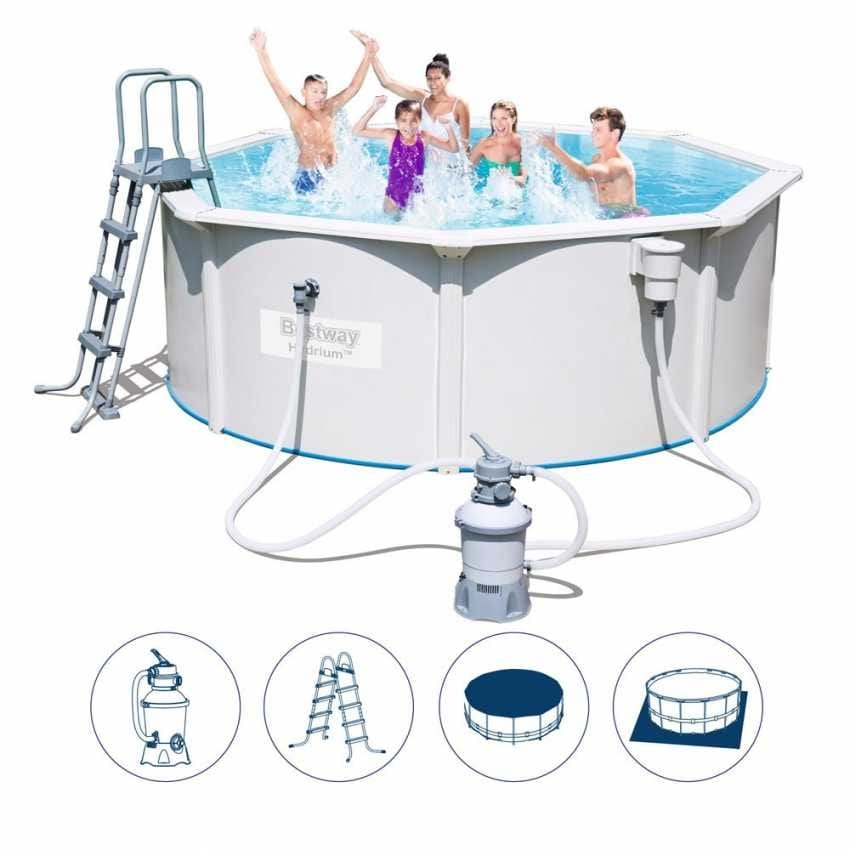 Hydrium Pool Bestway 56574 above ground round 360x120cm - 56574, Above ground swimming pool with base cloth and covering cloth