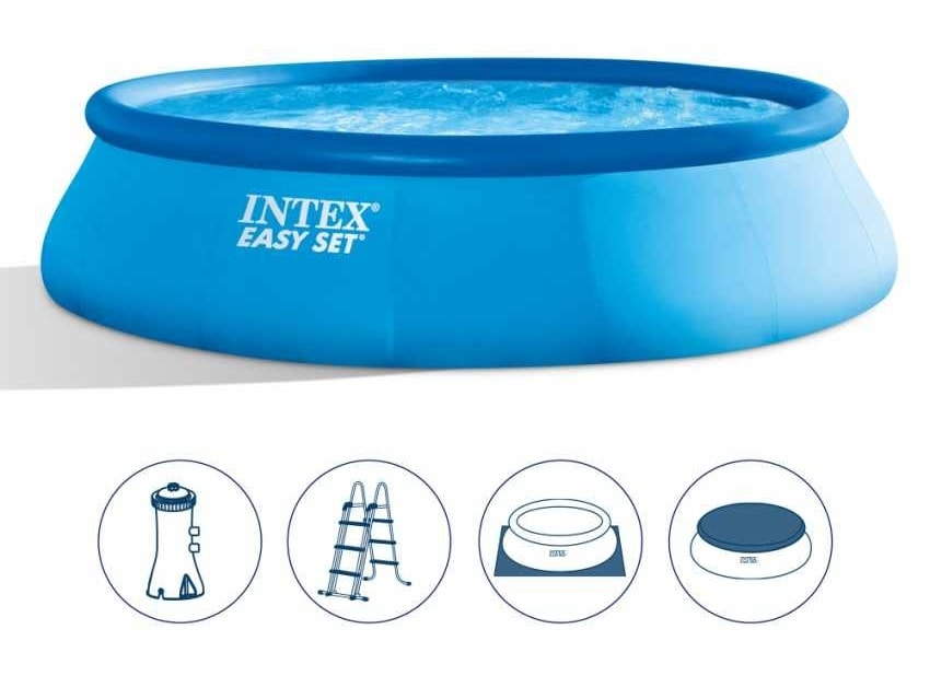 Intex 26166 Ex 28166 Easy Set Above Ground Inflatable Round Pool 457x107, Above-ground inflatable pool