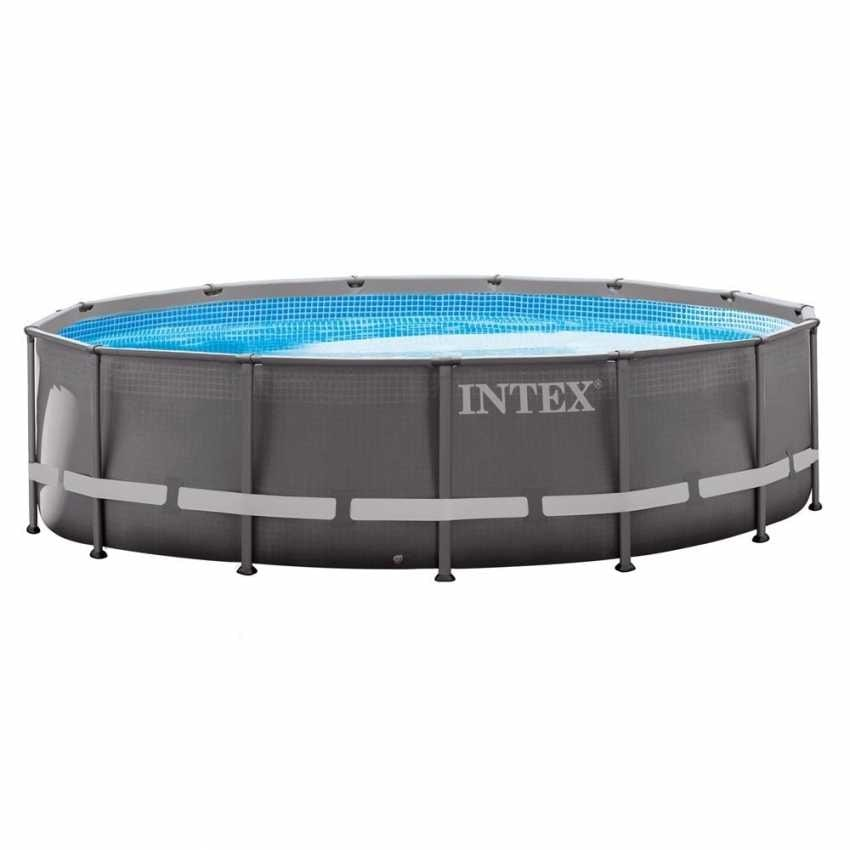 Intex 26310 ex 28310 Above ground pool ultra frame 427x107cm - 26310, Round swimming pool with filter pump and ladder