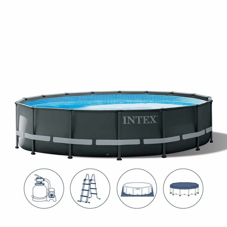 Intex 26326 Ultra XTR Frame Above Ground Round Pool 488x122cm - 26326, Robust and solid above ground swimming pool