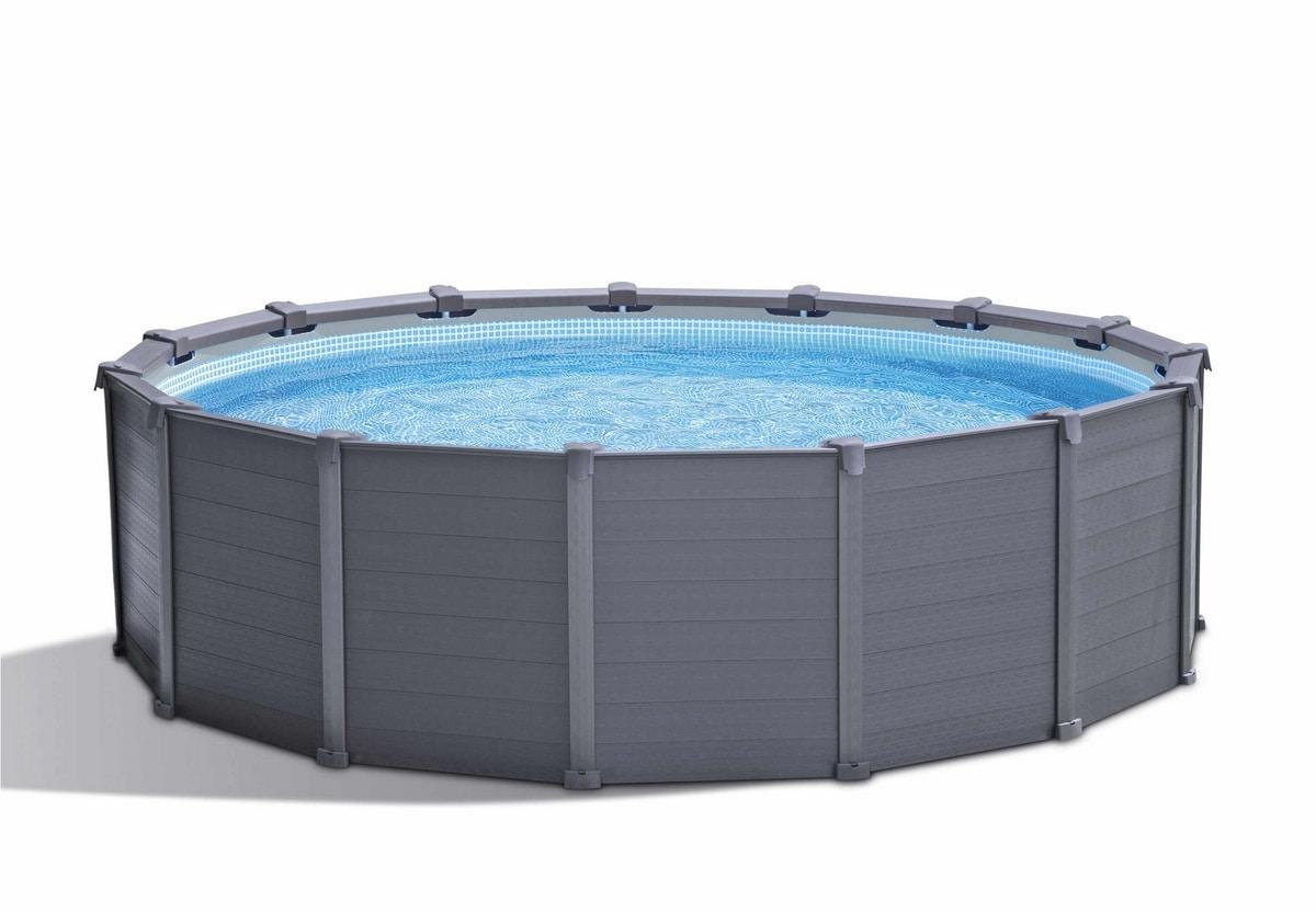 Intex 26384 ex 26382 Graphite Panel Pool 478x124cm Round - 26384, Above ground pool for garden