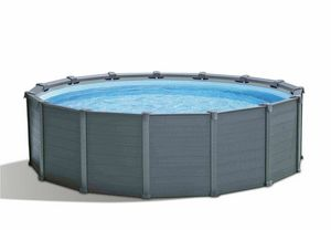 Intex 26384 ex 26382 Graphite Panel Pool 478x124cm Round - 26384, Above ground pool for garden