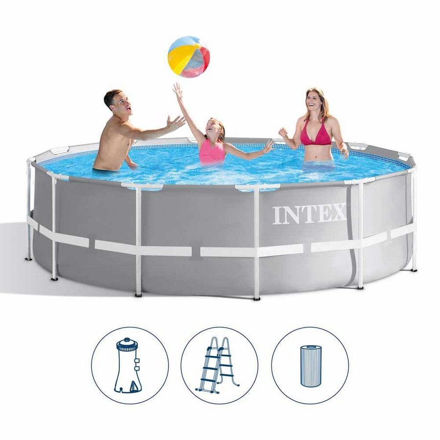 Intex 26716 Prism Frame Above Ground Round Pool 366x99cm - 26716, Above ground swimming pool equipped