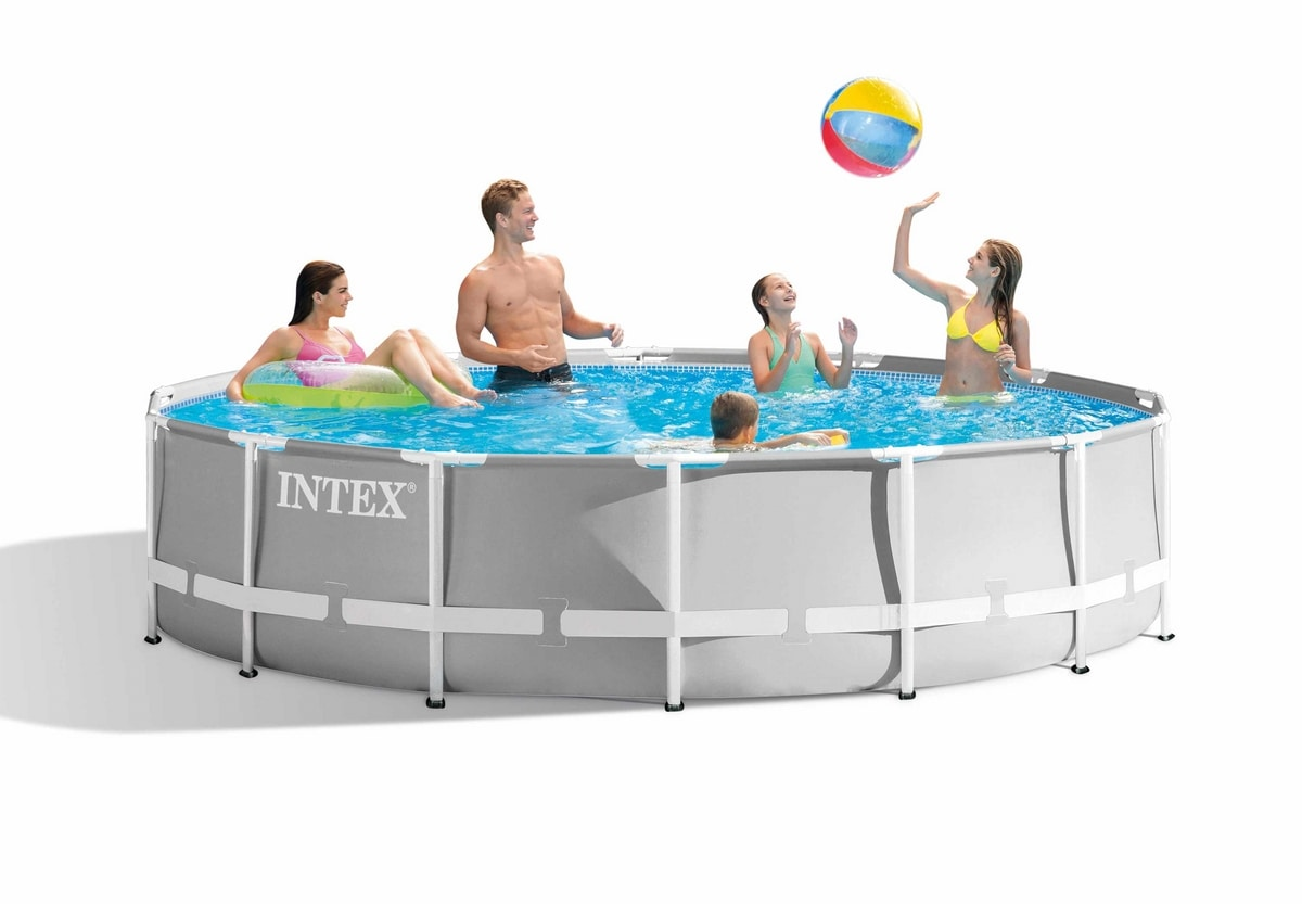 Intex 26720 Prism Frame Round Above Ground Pool 427x107cm - 26720, Removable round swimming pool
