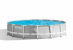 Intex 26724 ex 26734 Prism Frame Round Above Ground Pool 457x107 cm - 26724, Round garden pool