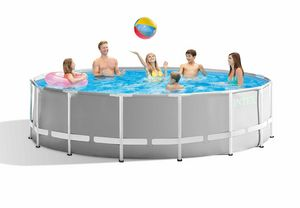 Intex 26726 ex 26736 Prism Frame Round Above Ground Pool 457x122cm - 26726, Round swimming pool for garden