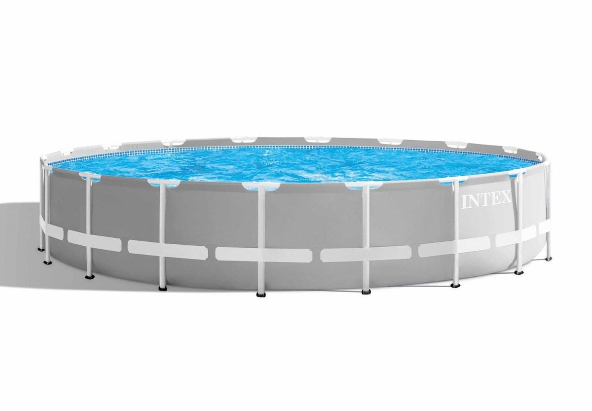 Intex 26732 ex 26752 Prism Frame Round Above Ground Pool 549x122 cm - 26732, Large round garden swimming pool