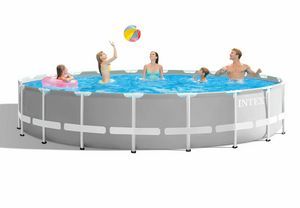Intex 26756 ex 26762 Prism Frame Round Above Ground Pool 610x132cm - 26756, Removable garden pool