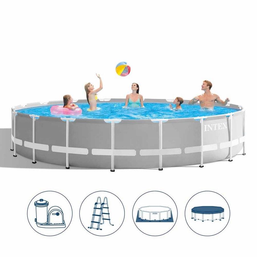 Intex 26756 ex 26762 Prism Frame Round Above Ground Pool 610x132cm - 26756, Removable garden pool