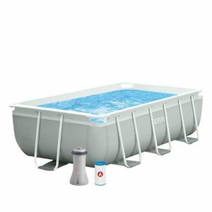 Intex 26784 Prism Frame Above Ground Pool Rectangular 300x175x80 - 26784, Swimming pool in treated steel resistant to rust and corrosion