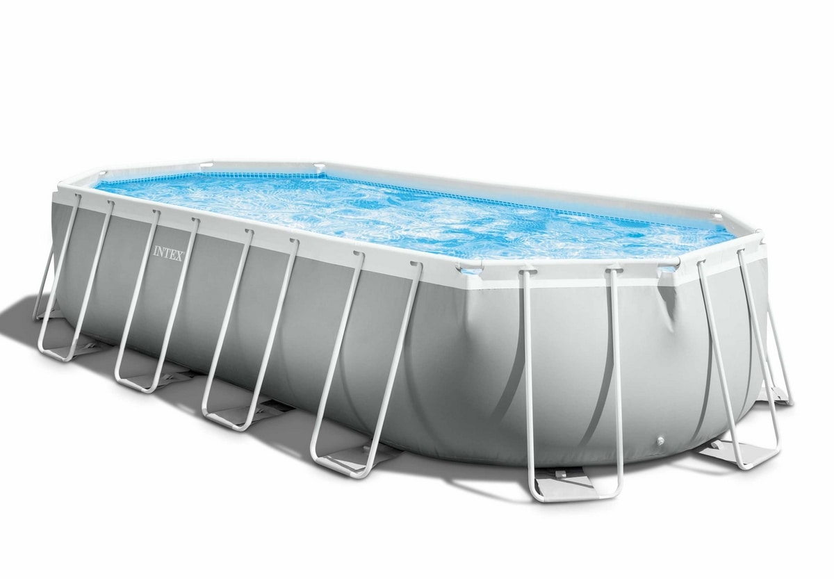 Intex 26798 Oval Above Ground Pool 610x305x122cm Prism Frame - 26798, Large removable swimming pool