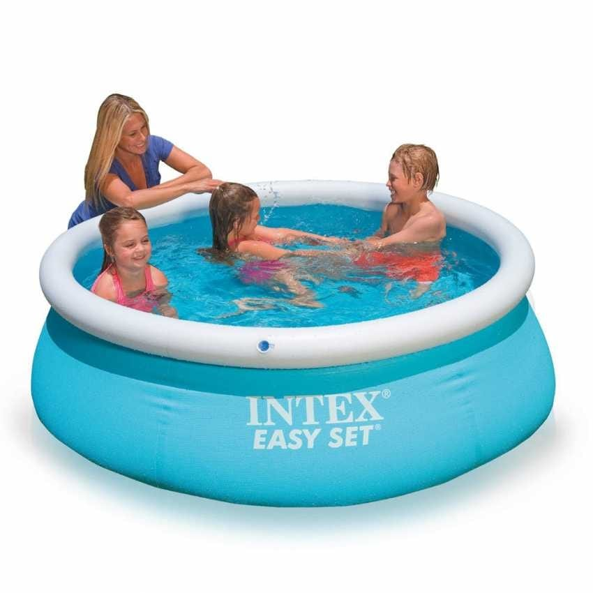 Intex 28101 Easy Inflatable above ground pool set 183x51 - 28101, Inflatable pool for the garden