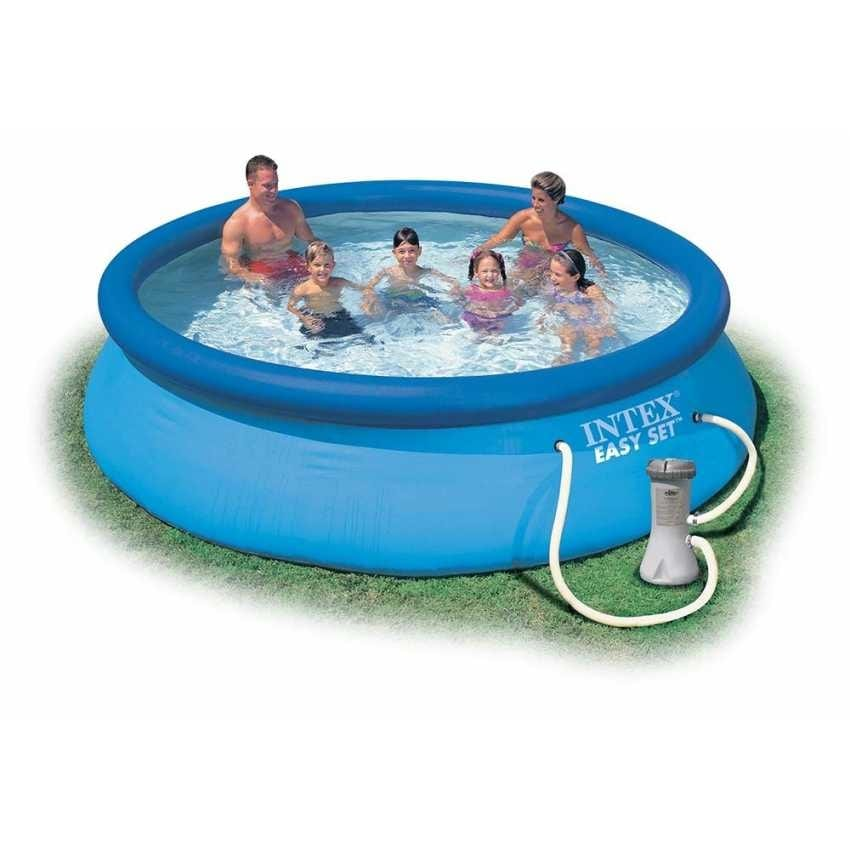 Intex 28132 Easy Set above ground inflatable pool round 366x76 - 28132, Outdoor inflatable pool with filter pump