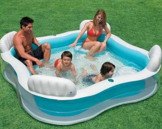 Intex 56475 inflatable pool 4 Seats spa - 56475, Inflatable square pool for 4 people