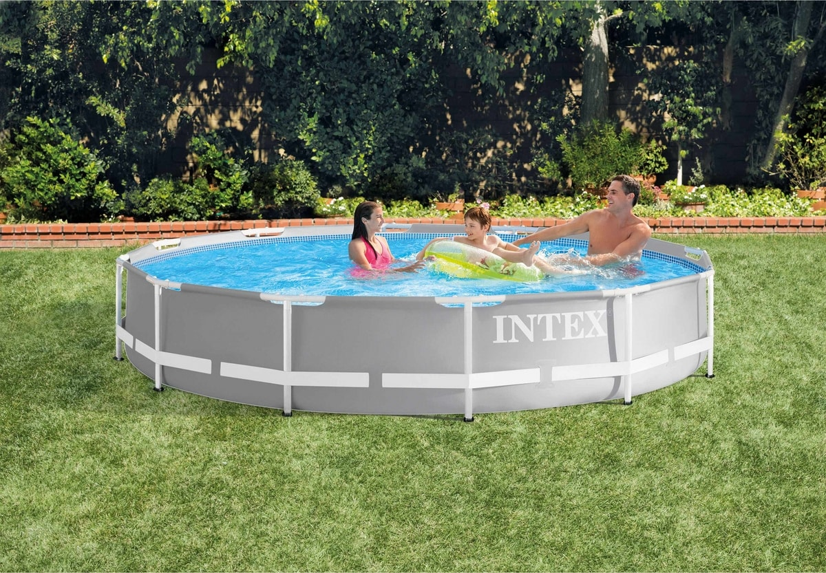 Intex pool 28710 round Metal Frame Outside the Ground 366cm - 28710, Above ground pool in laminated pvc