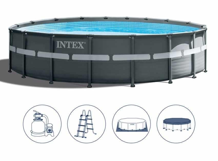 Intex Swimming Pool 26330 Ex 26332 Ultra Frame Round 549x132, Round swimming pool above ground