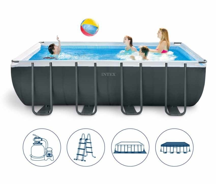 Intex Swimming Pool 26356 Ex 26352 Ultra Frame Rectangular 549x274x132, Above ground pool for outdoor use